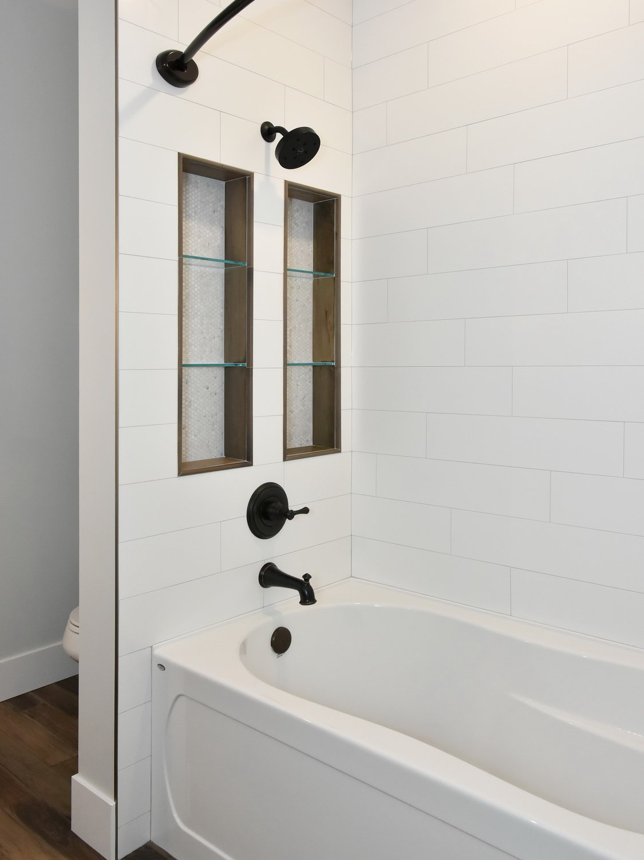 Delta Tub & Shower Trim, Shower Niches, Hytec Bath, Glass Shelves