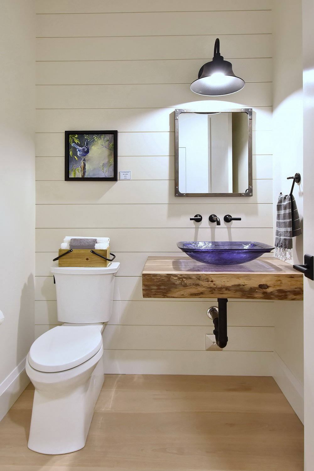Half Bathroom with Corbelle toilet & Floating Vanity