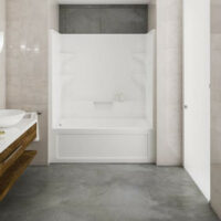 Multipiece tub & shower