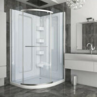 Mulit piece corner shower