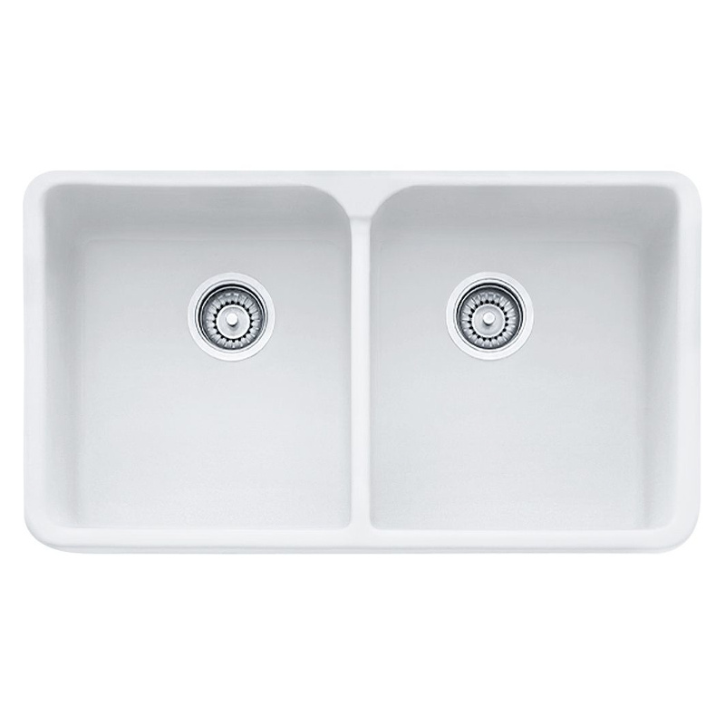Fireclay apron front sink